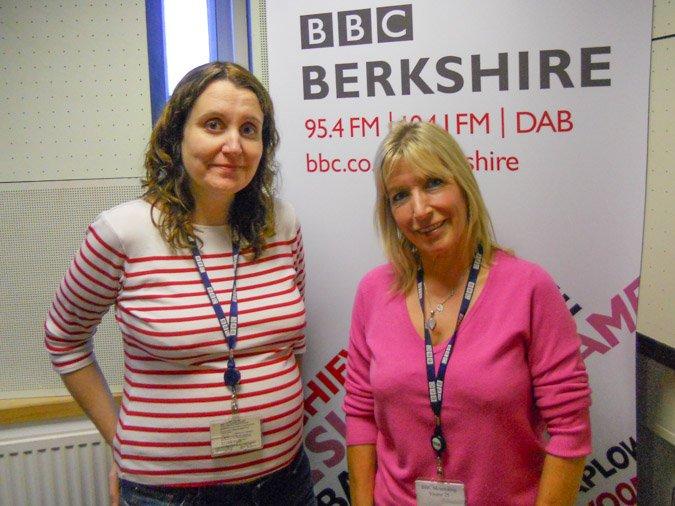 Kit Berry with Sarah Walker at Radio Berkshire