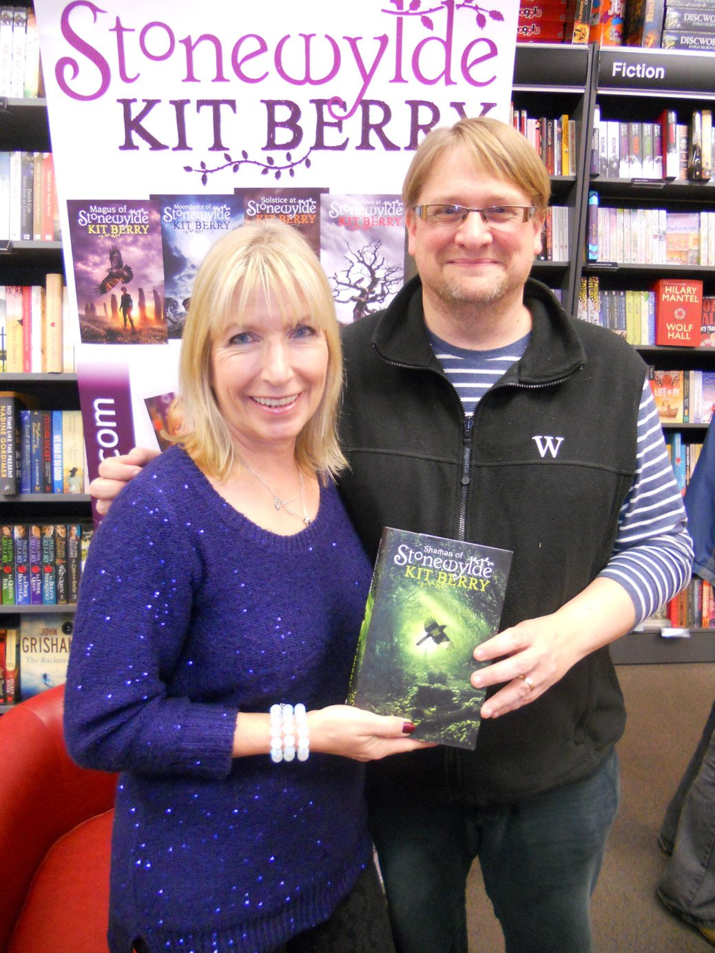 Kit Berry with fan at Waterstones Yeovil