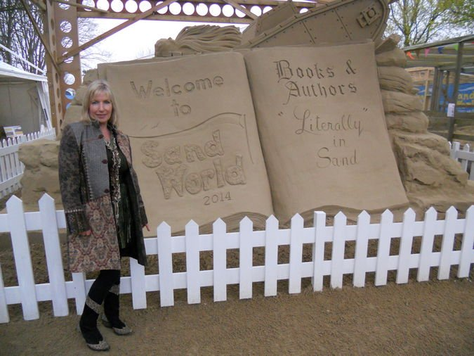 Kit Berry at Sand World in Weymouth, Dorset