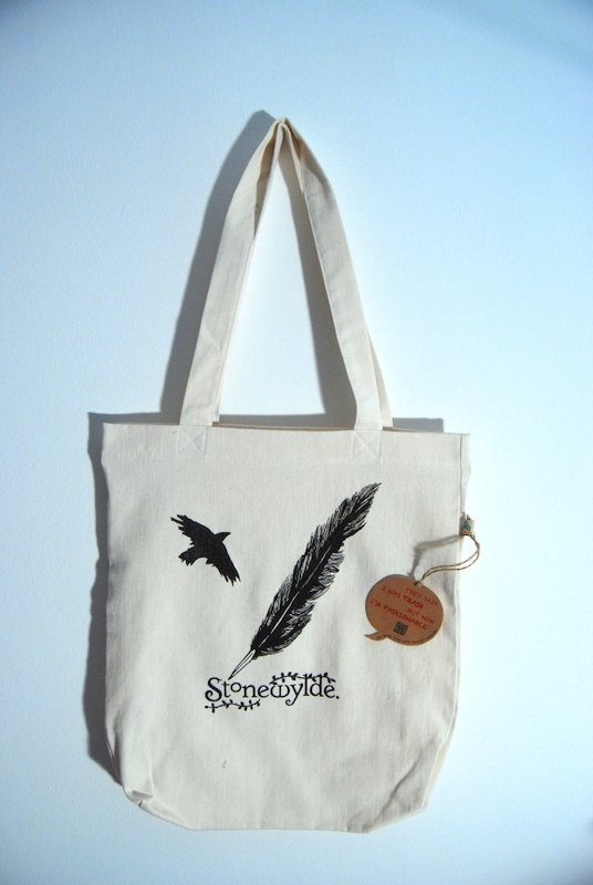 Stonewylde Crow and Quill Tote Bag