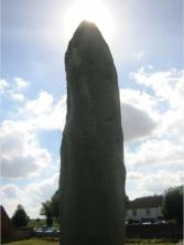 Standing stone and sun