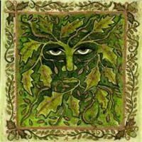 The Green Man painted by Claire of Helixtree