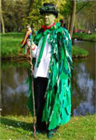 Mr B dressed as the Green Man
