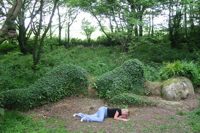 Kit Berry at the Gardens of Heligan