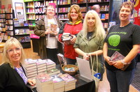 Kit Berry signs for Stonewylde fans at Waterstones in Plymouth, Devon