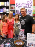 Kit Berry with fans at the launch of Shadows at Stonewylde in Dorchester Waterstones