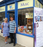 Kit Berry with Simon outside the Bookstop in Tavistock for sthe Stonewylde signing