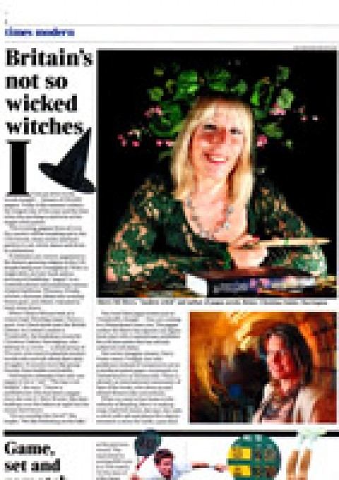 Kit Berry featured in The Times newspaper at the Summer Solstice