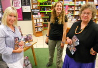 Kit Berry with Stonewylde fans in Waterstones, Truro